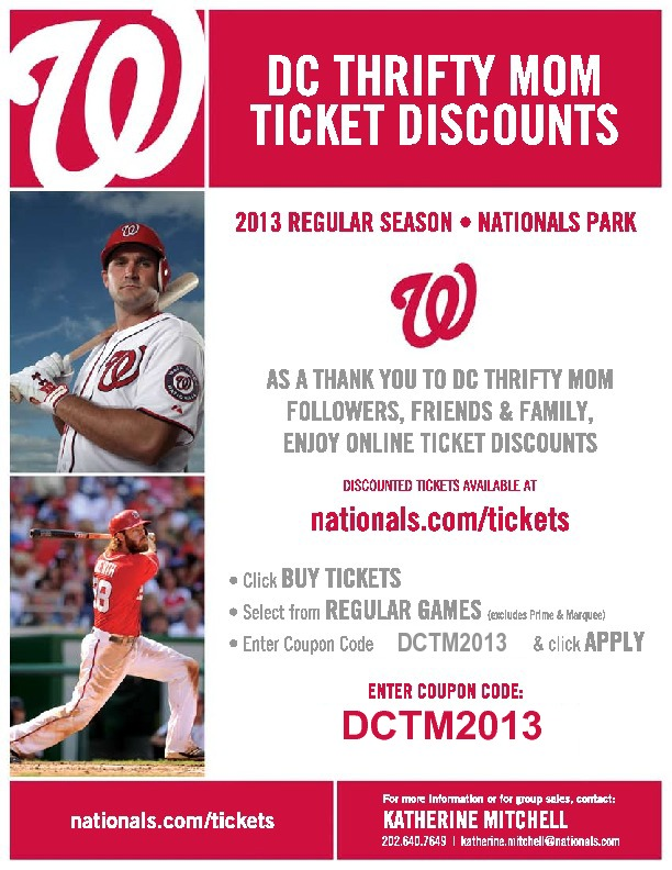 nationals tickets discounts for east west residents. as a thank you for being a resident you an Details: NATIONALS tickets discounts for East West Residents. As a THANK YOU for being a resident you and your friends and family can enjoy DISCOUNTED NATIONALS TICKETS!