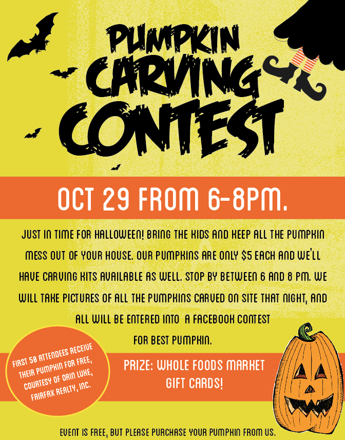 Free Pumpkins And Carving Contest At Whole Foods