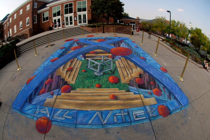 CHALK A LOT • STREET ARTIST MICHAEL WILLIAM KIRBY @ The Yards Park DC | Washington | District of Columbia | United States