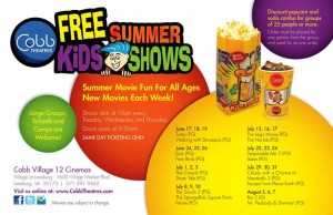 Cobb Theatres FREE Summer Kids Shows- Movies: Cloudy with a Chance of Meatballs 2 (PG) and Escape from Planet Earth (PG) @ Cobb Village 12 Cinemas  | Leesburg | Virginia | United States