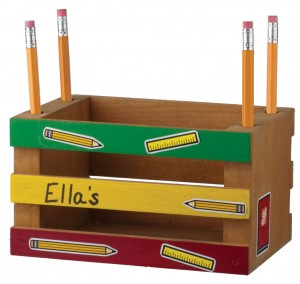 Build a Mini-Crate Pencil Holder @ Home Depot (register at your local store)
