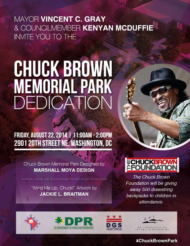 CHUCK BROWN MEMORIAL PARK DEDICATION @ Chuck Brown Park | Washington | District of Columbia | United States