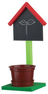 Learn How to Build a Chalkboard Planter Stand @ Home Depot (register at your local store)