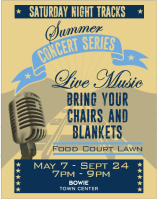 Saturday Summer Concert Series @ Bowie Town Center Food Court Lawn | Bowie | Maryland | United States