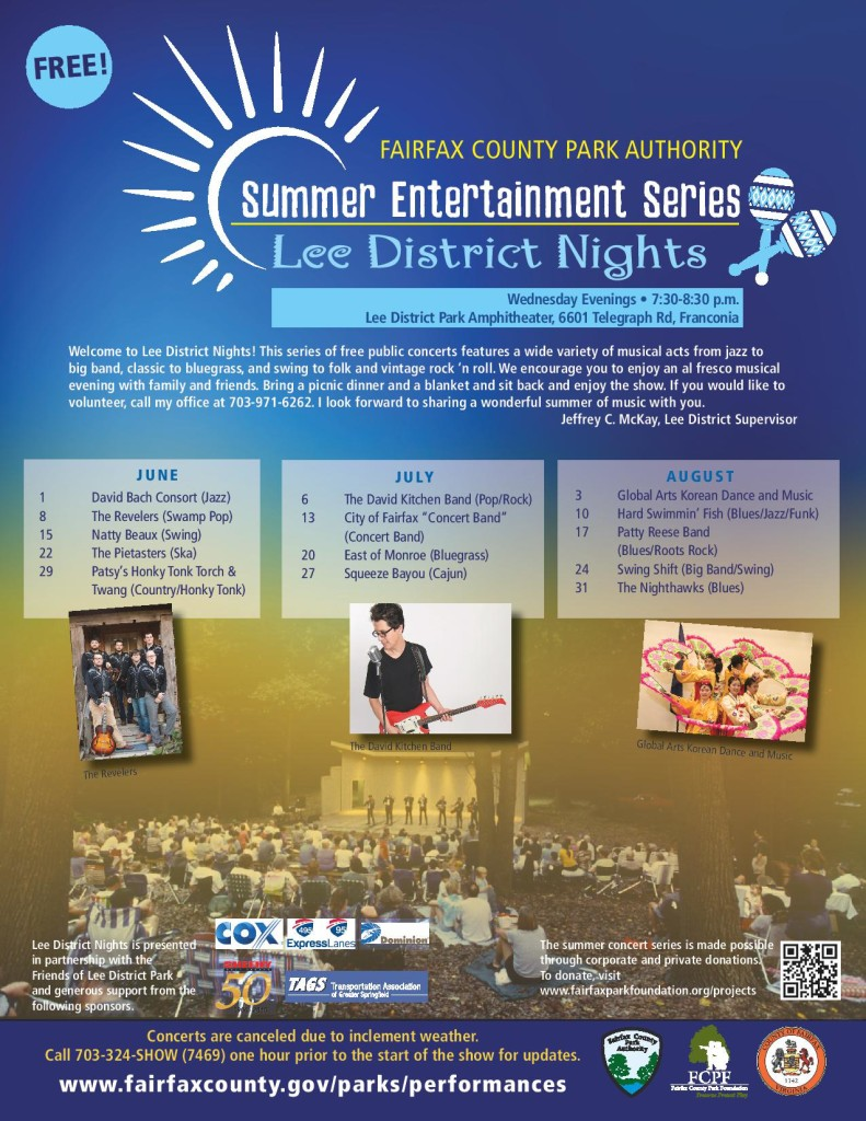 Lee District Nights @ Lee District Park Amphitheater | Alexandria | Virginia | United States