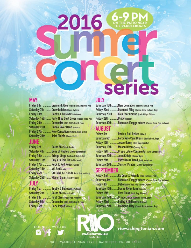 RIO Summer Concert Series @ RIO Washingtonian Center | Gaithersburg | Maryland | United States